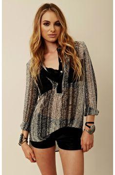 Zoa Long Sleeve Lace Blouse 94