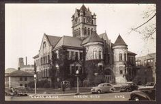 MASON CITY IA COURTHOUSE POSTCARD I wish I would have been born sooner to see this before they tore it down.