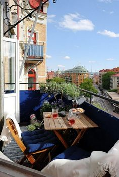 Captivating Apartment Decor with Small Patio