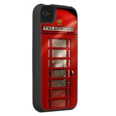 love this iphone case...Classic British Red Telephone Box iPhone 4 Case at Zazzle.ca