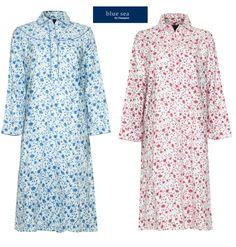 e702345d8d Ladies Brushed Cotton Warm Wyncette Nightdress.  ebay  Fashion