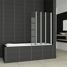 Chrome 2/4/5 Folds Folding Bath Shower Screen 6mm Easyclean Glass Door Panel