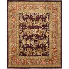 Bergama Red/Rust Area Rug