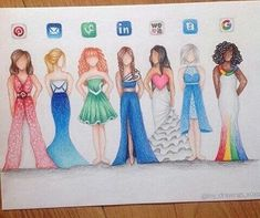 social media dress drawings - Google Search