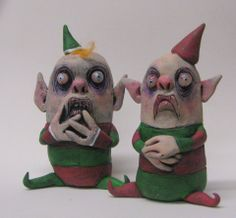Christmas Elves by mealy monster land https://www.etsy.com/shop/mealymonster?ref=si_shop
