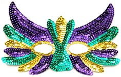 Mardi Gras Sequin Mask/Applique