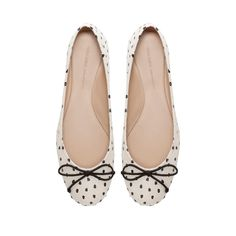 POLKA DOT BALLERINA SHOES - Shoes - Woman - ZARA United States
