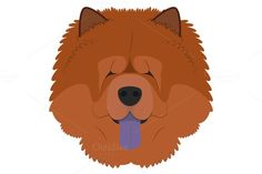 Chow Chow dog Vector Illustration. Pet Icons. $2.00