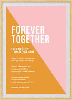 His & Hers Wedding Invitation // Envelopments Modern Wedding Invitation