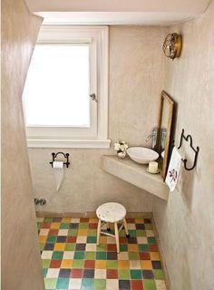 Great layout for a small bathroom. Decor, Boys Room Decor, Dream Bathrooms, Bathroom Makeover, House Styles, Framed Bathroom Mirror, Round Mirror Bathroom, Bathroom, Small Bathroom Makeover