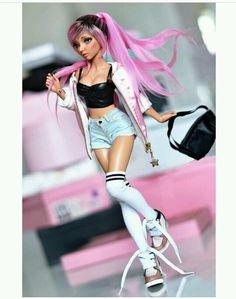 Custom Monster High Dolls, Custom Dolls, Beautiful Barbie Dolls, Pretty Dolls, Barbie Mode, Enchanted Doll, Realistic Dolls, Barbie Fashionista, Anime Dolls