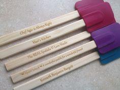 Personalized Kitchen Wooden Spatula.