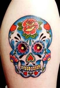 Day of the dead skull<3
