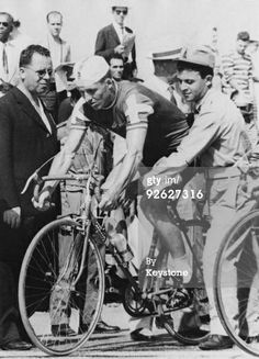 Knud Enemark Jensen (1936 - 1960) was a Danish cyclist who died while participating in the 1960 Summer Olympics in Rome, Italy. He is notable for having been involved in an early doping scandal. On August 26, 1960 Jensen collapsed during the 100 km team time trial, fatally fracturing his skull. He was 23 years old. The autopsy showed he had taken amphetamines and Roniacol (which may decrease blood pressure). Competing in 93F (34C) heat, the official cause of death was heat stroke