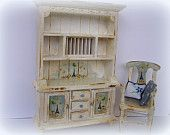 Shabby Chic, Kitchen Dresser and matching chair