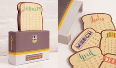 toaster-calendar Creative Calendar, Cute Calendar, Kalender Design, Diy And Crafts, Paper Crafts, Image Notes, Desk Calendars, Diy Gifts, Packaging Design