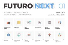 Great Icons Futuro Next Icons / Business Pack—Hey guys! We're glad to share you the first series of icons from our new Futuro Next
