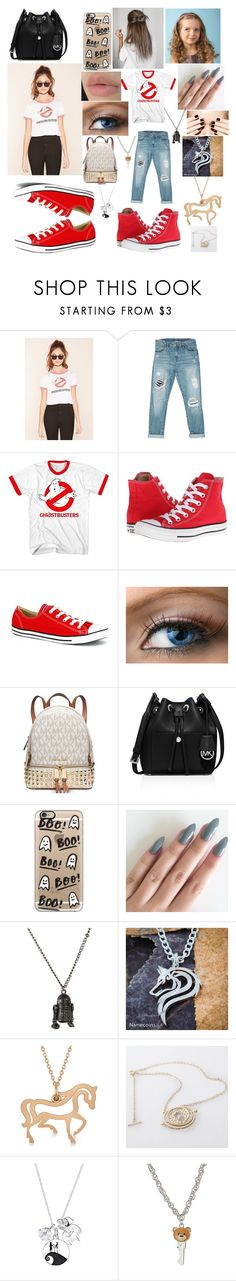"""""""Little sister and Older sister"""" by missmiyahd on Polyvore featuring Forever 21, Sans Souci, Converse, Estée Lauder, Michael Kors, MICHAEL Michael Kors, Casetify, Allurez, Disney and Moschino"""