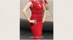 Crochet a women's pick-a-boo lace summer dress