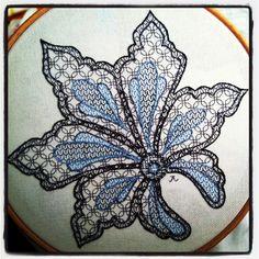 Basic Blackwork Medallion | Jen Goodwin Embroidery