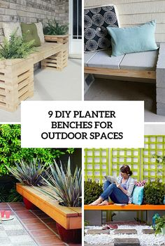 9 diy outdoor planter benches for outdoor spaces
