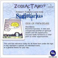 Zodiac Tarot for November 27: Sagittarius <br>  http://ifate.com