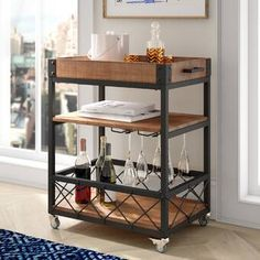Looking for Zona Kitchen Cart Mercury Row ? Check out our picks for the Zona Kitchen Cart Mercury Row from the popular stores - all in one. Portable Kitchen Island, Kitchen Island Cart, Kitchen Trolley, Kitchen Islands, New Kitchen, Kitchen Dining, China Kitchen, Dining Room, Rustic Kitchen