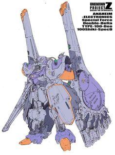 Mamoru Nagano's Gundam – Chara Soon – Gundam News Mode Cyberpunk, Edge Of Tomorrow, Mecha Suit, Zeta Gundam, Gundam Art, Custom Gundam, Japanese Characters, Smart Art, Ex Machina