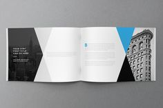 Minimal Modern Black & Blue Brochure on Behance