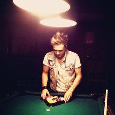 Joey playing pool :)