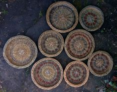 "9.5"" & 12"" fruit and bread basket by John Cowan Baskets"
