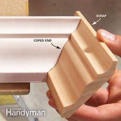 This three-piece crown molding technique simplifies installation and the results are spectacular. This three-piece crown molding technique simplifies installation and the results are spectacular. Crown Molding Installation, Cut Crown Molding, Trim Carpentry, Woodworking Projects, Diy Projects, Plafond Design, Diy Crown, Diy Home Repair, Trim Work