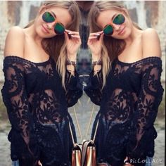 STUNNER! Black Crochet Lace Top This amazing top is PERFECT! Wear it with shorts and sandals for a fun look or dress it up with heels and bold lips for a night out! Size SMALL. Brand New! NOTE: NOT listed brand. Only tagged for exposure. Zara Tops