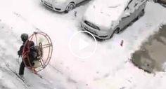 Uma Ideia Criativa Para Quem Tem Preguiça De Esquiar