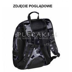 8963f688533a9 Czarny plecak gładki do szkoły 3 przegrody Hama dla chłopaka na laptopa Hama