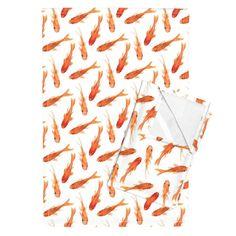 Orpington–Linen Tea Towels (Set of 2) — featuring Goldfish by Jill Byers ––…