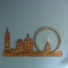 Tutorial on making London skyline string art out of plywood
