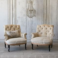 Pair of French Antique Bergeres  BVP07019 #ELOQUENCE