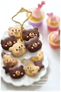 * Teddy bear Cookies * - my two daughters will be having this at their tea parties.