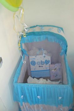 Caja De Regalos Tipo Cuna Para Baby Shower Niña. Imagem Relacionada