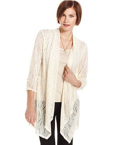 Style Top, Three-Quarter Sleeve Lace - Womens Sale & Clearance - Macy's