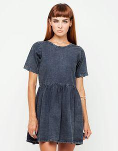 Penny Babydoll Dress in Black Wash Denim. Get 20% off using the code GABZ at motelrocks.com