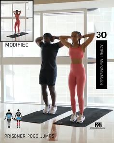 Full Body Hiit Workout, Hiit Workout At Home, Gym Workout Videos, Gym Workout For Beginners, Fitness Workout For Women, Fun Workouts, At Home Workouts, Excercise, Workout Programs