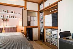 Guardaroba ALGOT ben organizzato nella nuova camera da letto di Fumie.