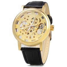 Just US$11.47, buy Hollow-out Dial Relief Automatic Mechanical Watch for Men online shopping at GearBest.com Mobile.