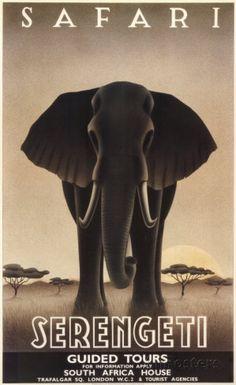 Serengeti Reproduction d'art