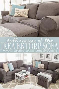 Full detailed review of the IKEA Ektorp Sofa Series with pictures of used sofa next to brand new sofa as well as pictures of the assembly process. Great read!