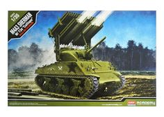 Academy Hobby Plastic Model Kit M4A3 Sherman W/T34 Calliope 1/35 Scale 13294 NIB #Academy
