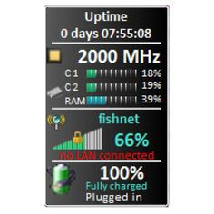 15 Windows 7 Gadgets for System Monitoring: margu-NotebookInfo2 Gadget