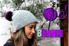 Mütze stricken lernen für Anfänger - Beanie / Wollmütze mit Bommel - Anl...